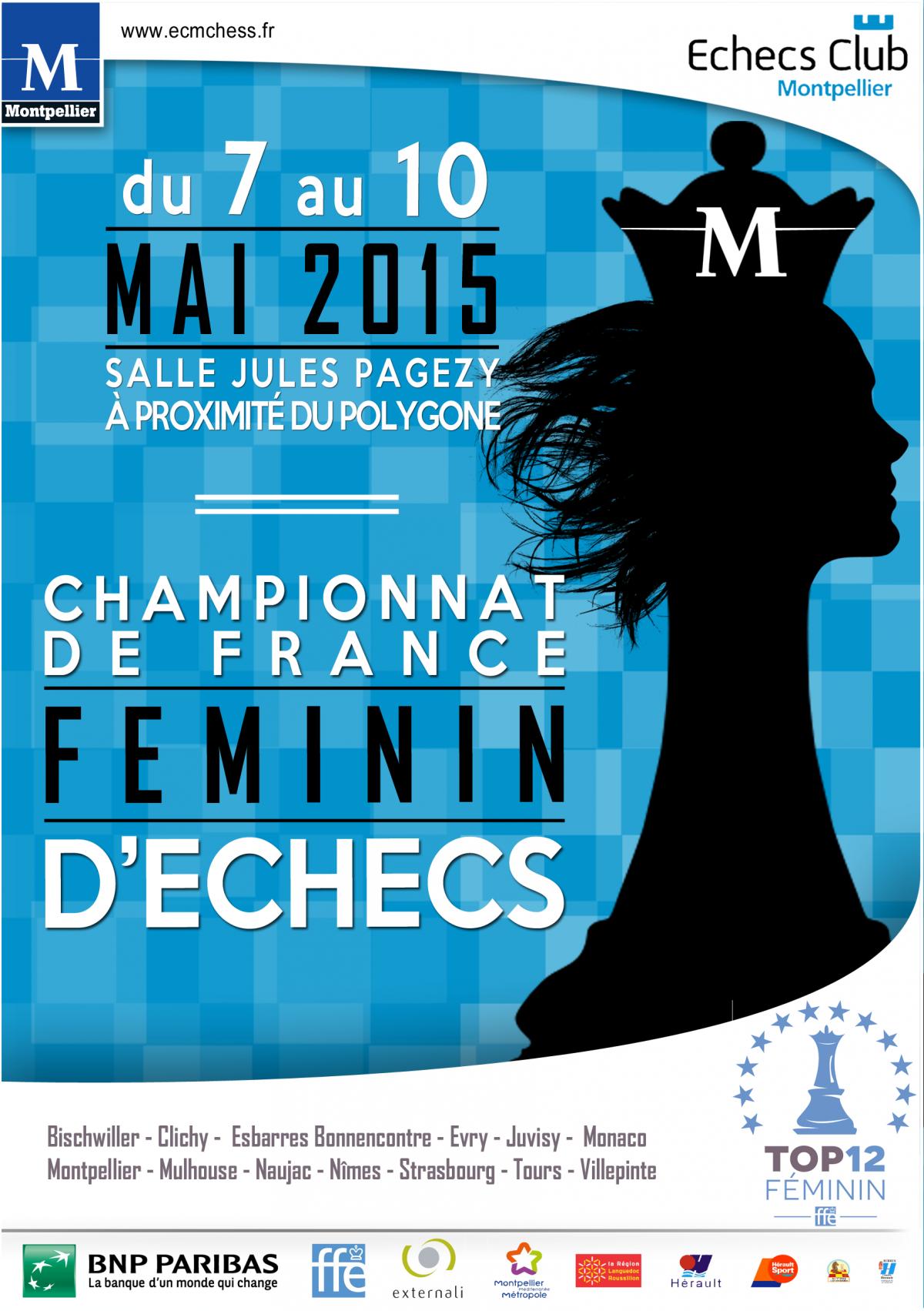 Championnat de France feminin - Affiche