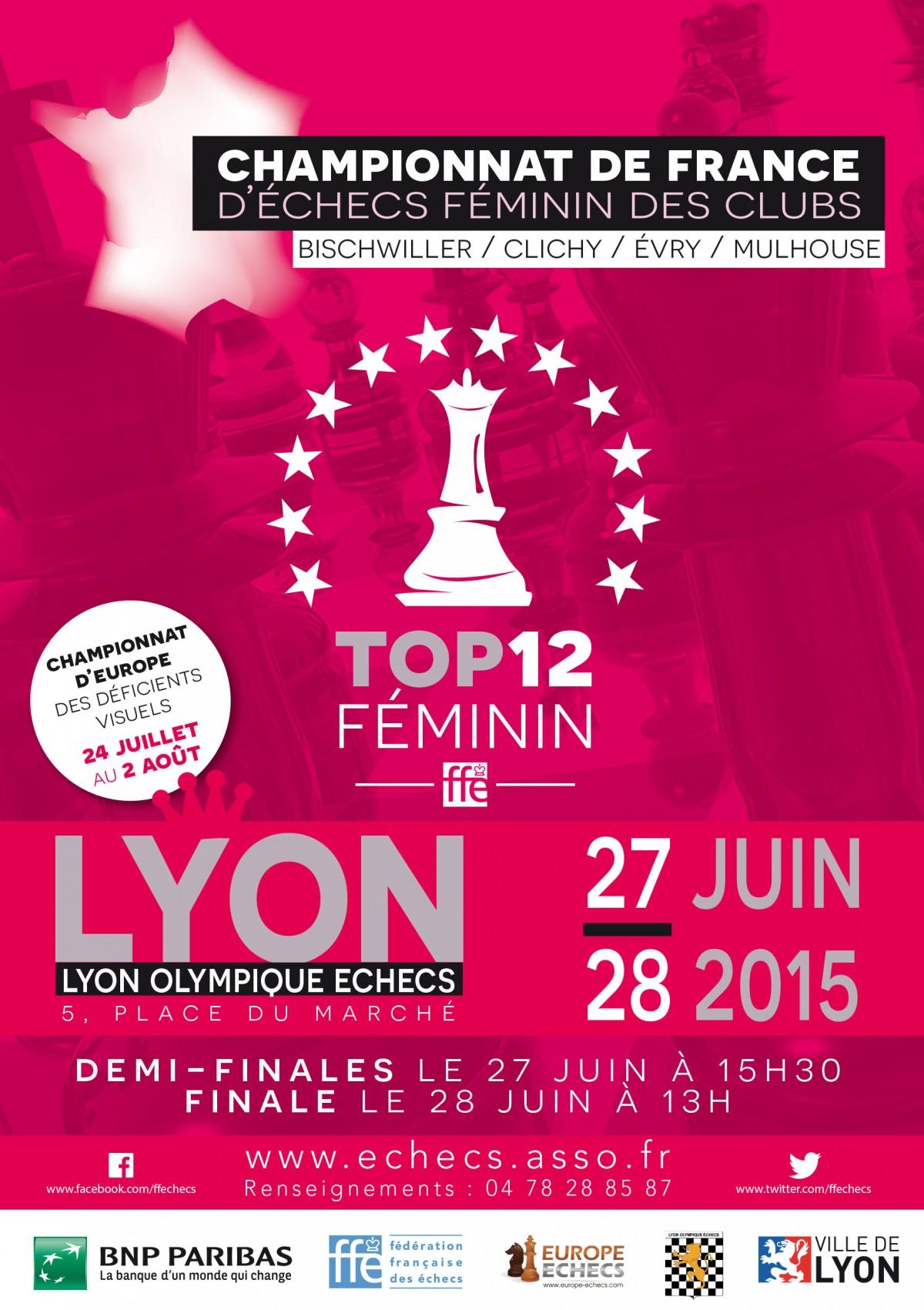 Affiche championnat de France Féminin 2015