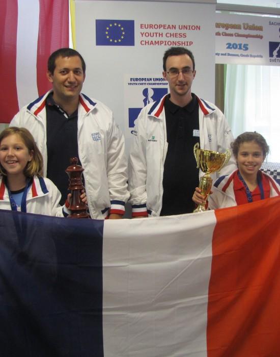 Championnat UE - Emma Mathieu Sylvain Sofia